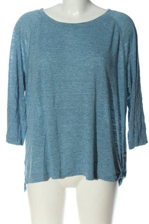 Didi Camicetta lunga blu puntinato stile casual
