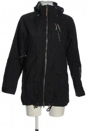 Didriksons Raincoat black allover print casual look