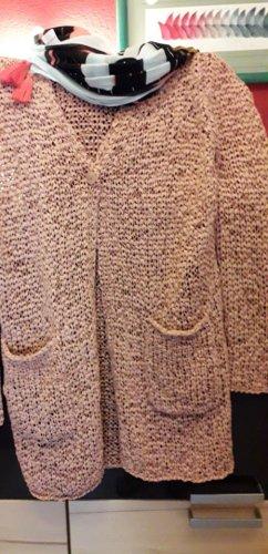 Luisa Cerano Manteau en tricot rose chair coton