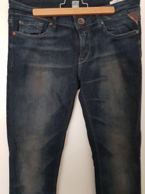 Replay Drainpipe Trousers dark blue