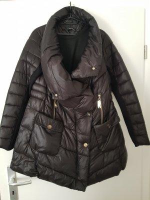 Elisabetta Franchi Waxed Jacket black-gold-colored
