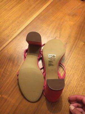 H&M Sandały z rzemykami różowy