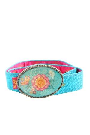 Die Spiegelburg Cinturón de tela azul elegante