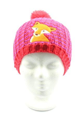 Die Spiegelburg Strickmütze pink Motivdruck Casual-Look