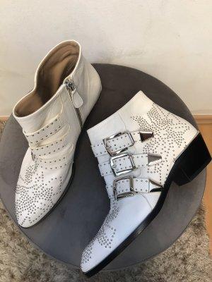 Die Susanna Nappa Boots White Silver von Chloé in Gr.36 NEU
