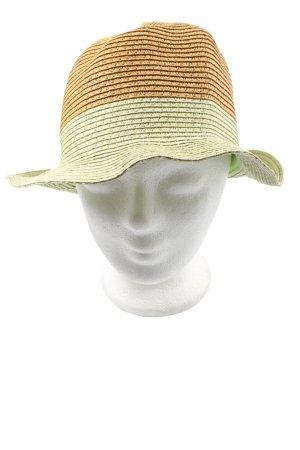 Diefenthal Kapelusz panama jasny pomarańczowy-zielony W stylu casual