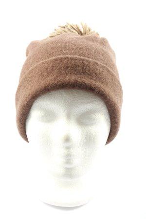 Diefenthal Wełniana czapka brązowy W stylu casual