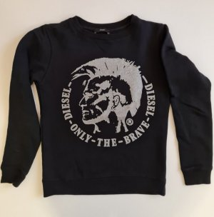 Diesel T-shirt imprimé noir-argenté