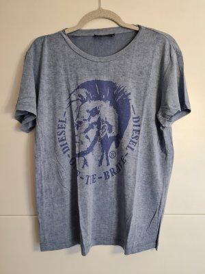 Diesel T-shirt bleu azur-bleuet