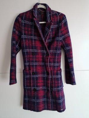 Diesel Manteau en laine bordeau-bleu foncé