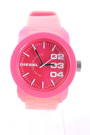 Diesel Analoguhr pink Casual-Look
