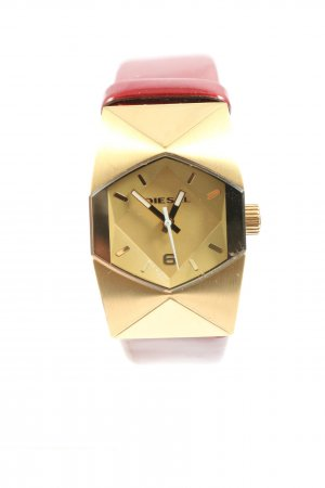 Diesel Analog Watch red-gold-colored printed lettering casual look