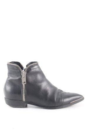 Diesel Ankle Boots schwarz Business-Look