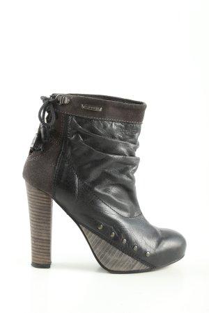 Diesel Ankle Boots schwarz-braun Business-Look