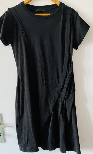 Diesel Robe à manches courtes noir coton