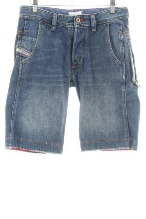 Diesel Bermuda stahlblau Jeans-Optik