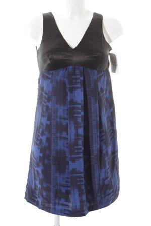 Diesel Black Gold Blusenkleid schwarz-blau grafisches Muster Elegant