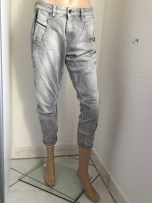 DIESEL BLACK GOLD Damen Jeans Tapered Fit in hellgrau Gr.27