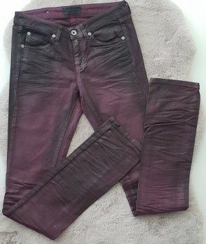 Diesel black gold Jeans wetlook Lederoptik