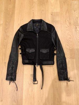 Diesel Black Gold Leder & Denim Jacke