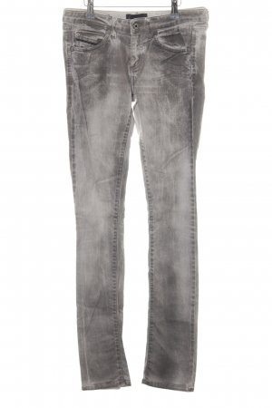 Diesel Black Gold Skinny Jeans hellgrau Washed-Optik