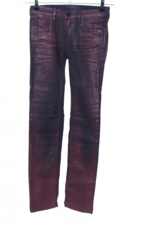 Diesel Black Gold Stretch Jeans lila Casual-Look