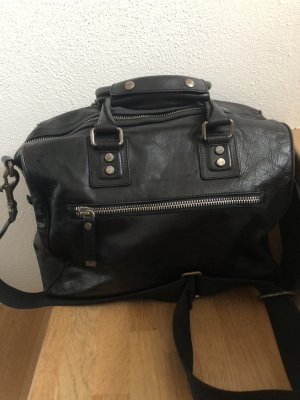 Diesel Black Gold Weekender Bag black-silver-colored
