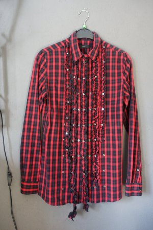 Diesel Checked Blouse black-red cotton