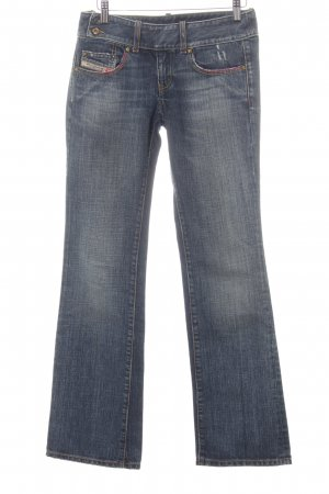 Diesel Boot Cut Jeans dunkelblau Washed-Optik