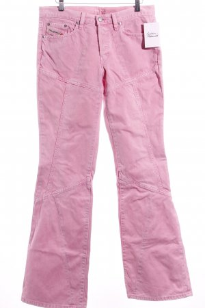 Diesel Boot Cut Jeans rosa Casual-Look