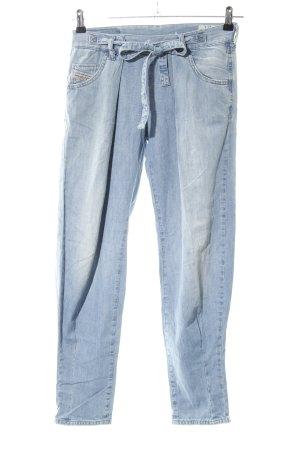 Diesel Pantalon à pinces bleu style décontracté