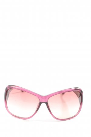 Diesel Butterfly Glasses pink-black striped pattern casual look