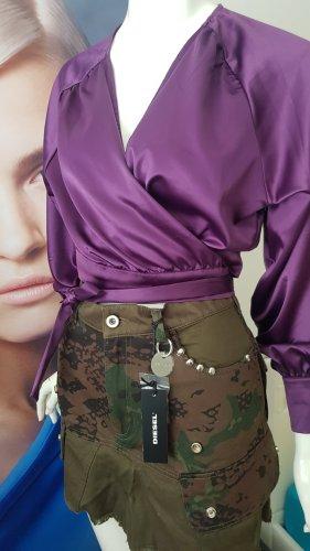 Diesel Camouflage jeansrock neu NA-KD neu deep purple wickelbluse neu