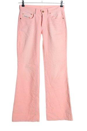 Diesel Corduroy Trousers pink casual look