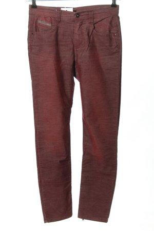 Diesel Pantalón de pana rojo look casual