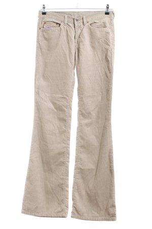 Diesel Pantalone di velluto a coste bianco sporco stile casual