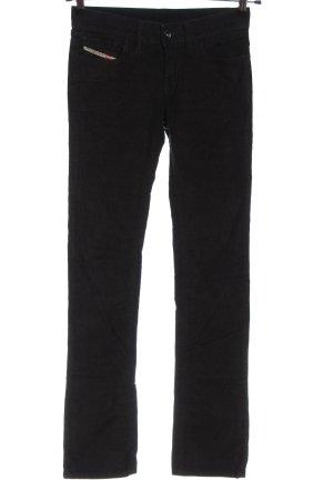 Diesel Corduroy broek zwart casual uitstraling