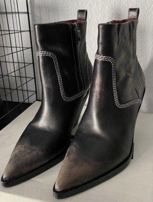Diesel Buty na obcasie czarno-brązowy-jasnobrązowy