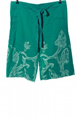 Diesel Culottes turquoise themed print casual look