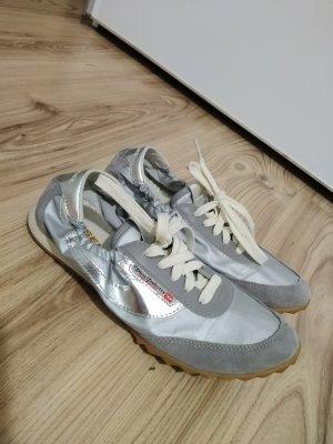 Diesel Sznurowane buty srebrny-jasnobeżowy