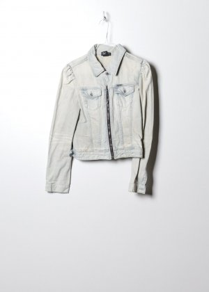 Diesel Damen Denim Jacke in Weiß