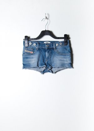 Diesel Damen Jeans Shorts in Blau