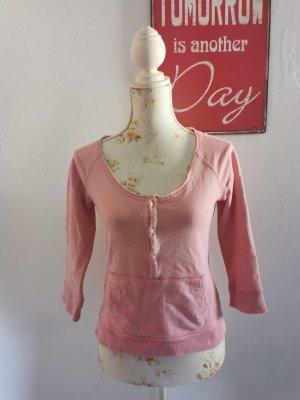 Diesel Damen Sweatshirt Pullover Flockdruck rosa Größe M