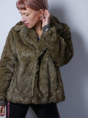 Diesel Fake Fur Mantel