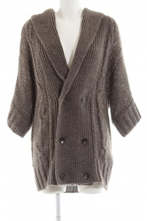 Diesel Coarse Knitted Jacket brown cable stitch casual look