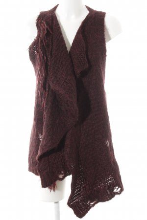 Diesel Cardigan a maglia grossa bordeaux stile casual