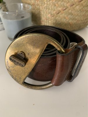 Diesel Leather Belt dark brown