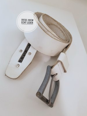 Diesel Leather Belt white
