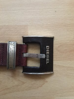 Diesel Leather Belt brown-black brown