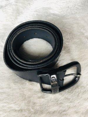 Diesel Lederen riem zwart